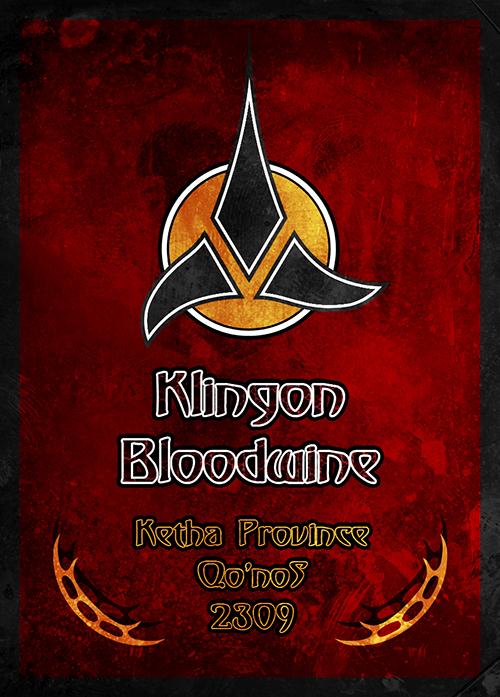 Klingon Bloodwine - Wine Bottle Label