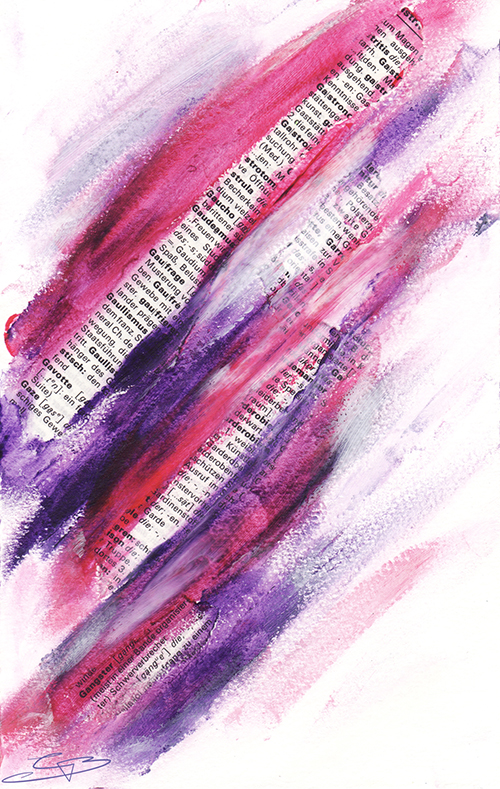 Art Journal Backgrounds - Book Paper Strips