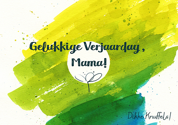 Color Splash Birthday Card Mama