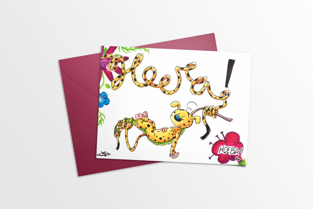 New Baby Card with Marsupilami Mockup