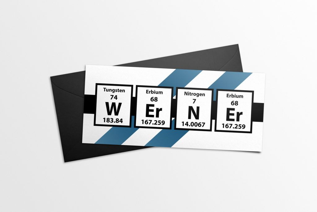 Father's Day Card 2016 - Werner Name Elements Mockup