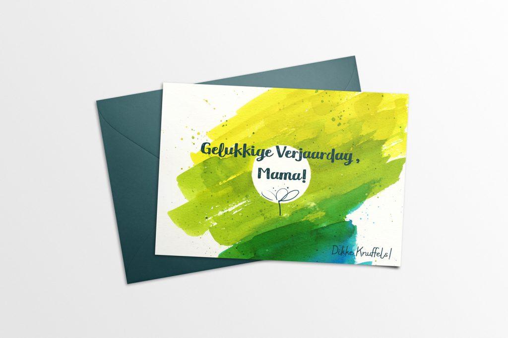 Color Splash Birthday Card Mama Mockup