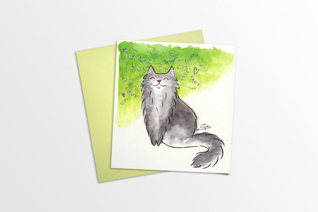 Happy Kitty Card Mockup