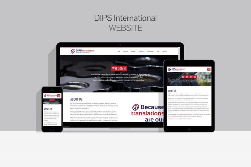 DIPS International Website Mockup