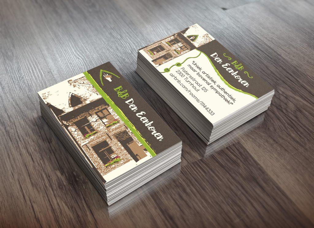 Den Eenhoren Business Card Mockup