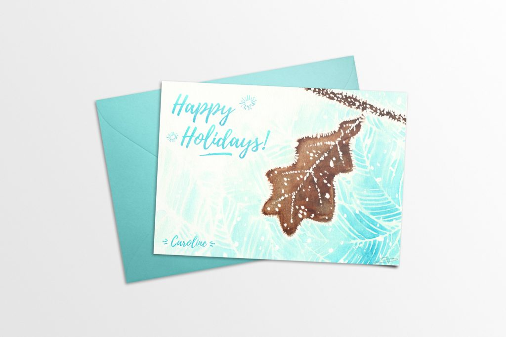 Winter Holidays Card 2016 Mockup