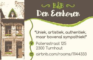 Den Eenhoren Business Card Back